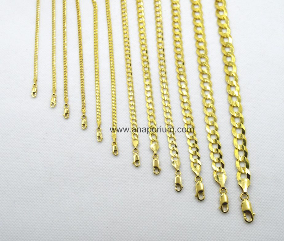 gold singapore chain adjustable white anklet